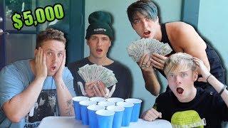 $5,000 Cup Pong Challenge Vs Sam & Colby