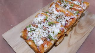 Bread pizza with khana khazana