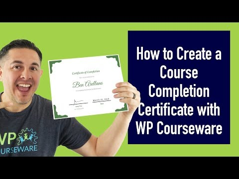 How to Create a Course Completion Certificate with WP ... - YouTube
