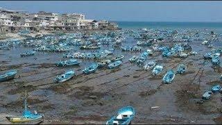 Se retira el mar en las costas de Ecuador hoy 4 de enero de 2018