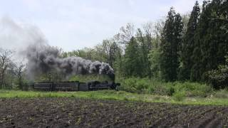 2014年5月10日 上りばんえつ物語(C57180)客車リニューアル 山都-喜多方間
