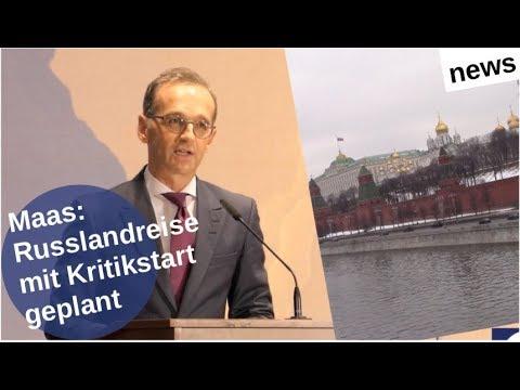 Maas: Russlandreise mit Kritikstart geplant [Video]