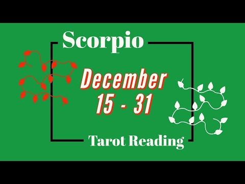 Scorpio ♏ December 15 - 31 •||• Bringing Down the Tower