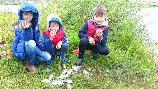 Хорошая рыбалка с ребенком