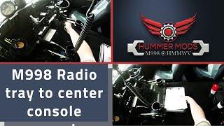 HMMWV M998 Hummer Humvee Radio Tray to Center Console Conversion