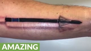 This 3D Arrow Tattoo Looks Incredibly Realistic!