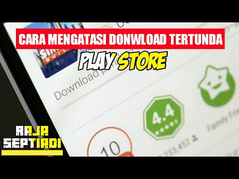 Video Cara mengatasi download tertunda di play store