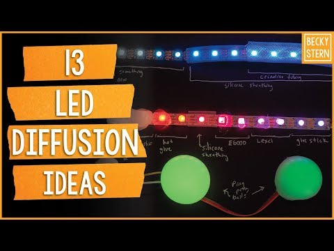 13 Ideas for LED Diffusion // Becky Stern