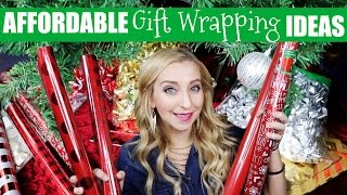 Affordable Gift Wrapping Ideas for Christmas Presents!