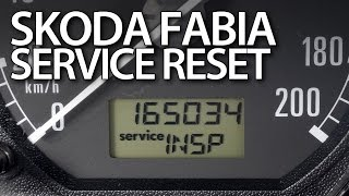 How to reset service reminder in Skoda Fabia I (INSP OIL maintenance indicator)