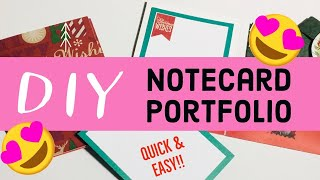 QUICK & EASY Notecard Portfolio With Custom Designer Paper/ Awesome Stocking Stuffer/DIY Notecards