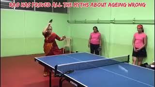 Smashing at 69 Former Indian champ Saraswathi Rao's table tennis skills will leave you amazed