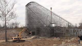 Kings Island Son of Beast Roller Coaster Demolition