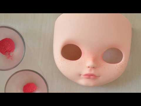BLYTHE CUSTOM TUTORIAL - Part 4: doll make up - Julia Cabral Dolls