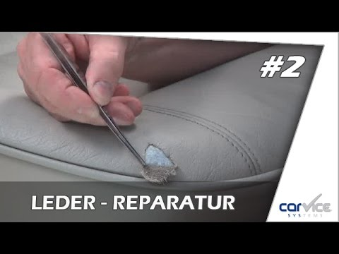 Leder und Vinylreparatur so geht`s !   Teil #2     Smart Repair Lederreparatur Riss, Dreiangel