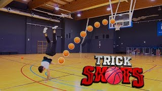 BASKETBALL Trick Shot Battle (All Stars) | Jeyx