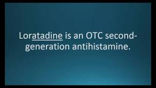 How to pronounce loratadine (Claritin) (Memorizing Pharmacology Flashcard)