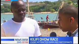 Annual Dhow race underway in Kilifi county attracts over 200 participants