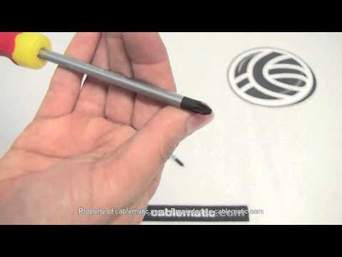 Destornillador profesional punta pozidriv® distribuido por CABLEMATIC ®