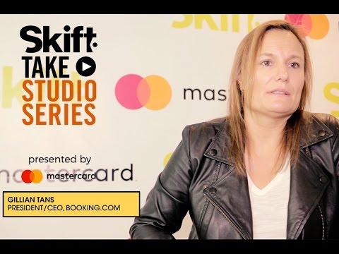 Booking.com's Gillian Tans at Skift Take Studio