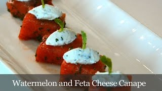 Watermelon and Feta Cheese Canape