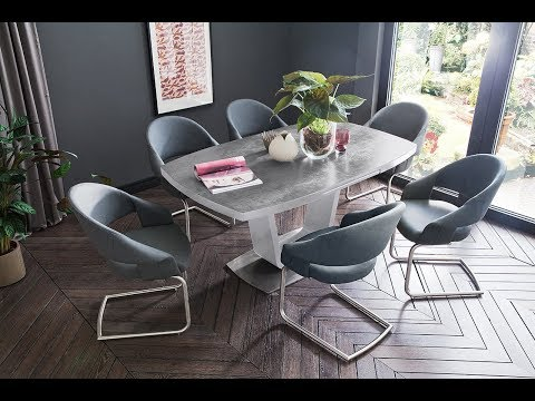 Esstisch Leandro mit Keramik-Tischplatte ausziehbar