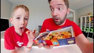 FATHER SON PLAY BEAN BOOZLED! / Jelly Bean Taste Test!