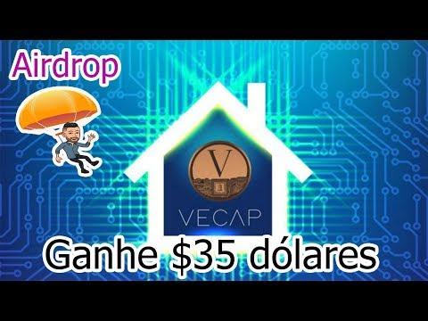 $35 Dólares de Graça no Airdrop Vecap , NÃO PRECISA INDICAR !