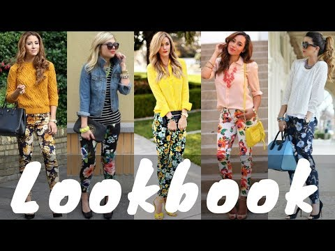 Latest Floral Pants Outfit Ideas Trend for Spring | Spring Lookbook 2018