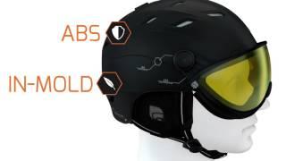 Cairn, Visor, Goggle, for Spectral Visor Magnet helmets, Orange CAT 3