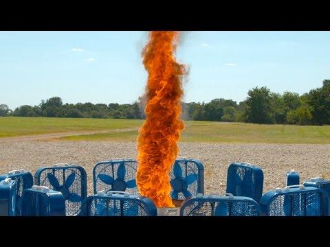 Fire Tornado in Slow Motion 4K - The Slow Mo Guys (видео)
