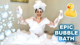 The ULTIMATE Bubble Bath With Bath Bombs