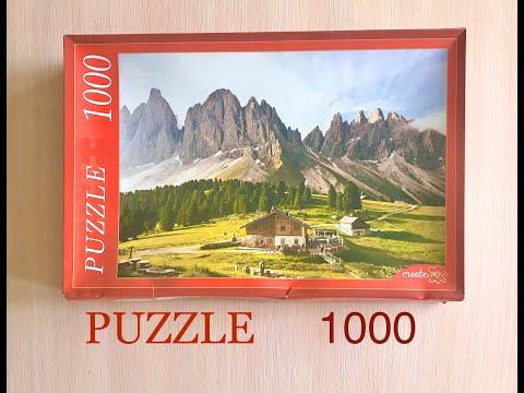 Собираю puzzle 1000 деталей в Timelapse
