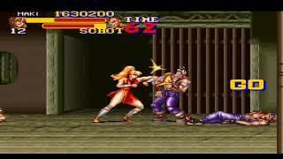 SNES 1993 FINAL FIGHT 2 MAKI STAGE 6 FINAL