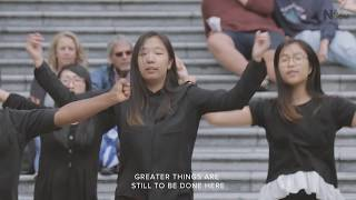 2017 Nanoom Praisemob (Flashmob) In Vancouver 'God Of This City'
