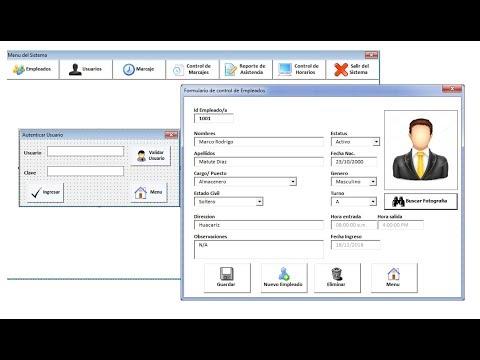 Sistema Control de Personal Asistencia y Planilla Excel  | System Control of Personnel Assistance