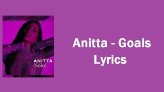 Anitta   Goals (Lyrics  Lyric Video)