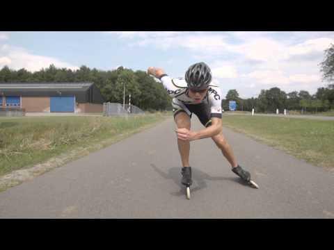 Techniek skeeleren double push Lars Scheenstra Slowmotion