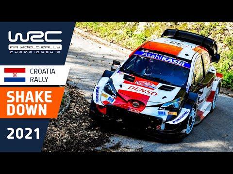 WRC 2021 第3戦ラリー・クロアチア シェイクダウンのハイライト動画
