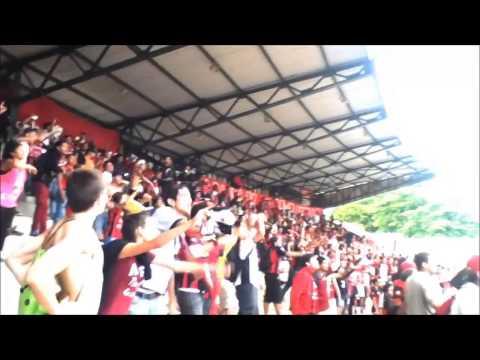 """Huracán Rojinegro en San Felipe 2013"" Barra: Huracan Roji-Negro • Club: Deportivo Lara"