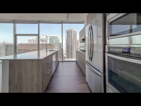 An -06 Apex 2-bedroom, 2-bath at Streeterville's Optima Signature apartments