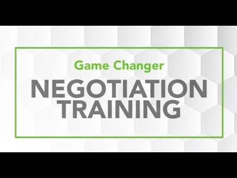 Game Changer Negotiation Training Workshops Overview - YouTube