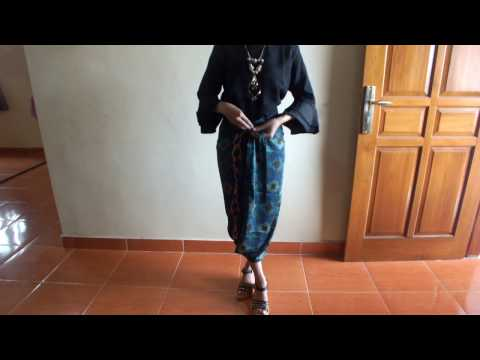 Video Cara Pakai Rok batik Lilit simple dan elegan Part II