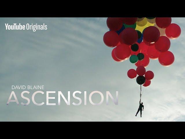 Дэвид Блэйн летает над пустыней Аризоны на связке воздушных шариков