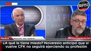 ¿A qué le tiene miedo? Novaresio anticipó que si vuelve CFK no seguirá ejerciendo su profesión