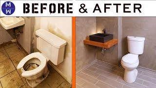 TRAIN-WRECK BATHROOM MAKEOVER // Abandoned Bldg Renovation Ep 01