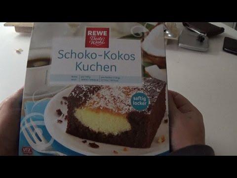 Schoko Kokos Kuchen Rewe - unboxing und Test