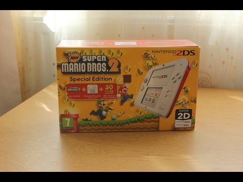 Nintendo 2DS [NEW Super Mario Bros. 2: Special Edition] - Unboxing [HD]