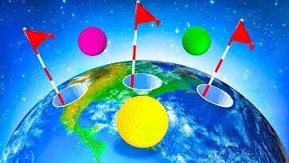 КРУТОЙ ГОЛЬФ С ЛУНКОЙ НА ДРУГОЙ ПЛАНЕТЕ! ПЕРЕЛЕТЕЛИ ПЛАНЕТУ И ПОПАЛИ В ЛУНКУ В ГОЛЬФ ИТ (Golf It)