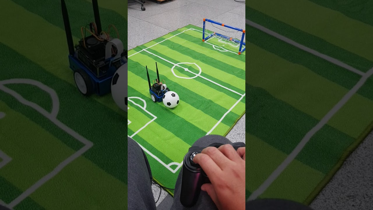 First Jetbot real soccer test